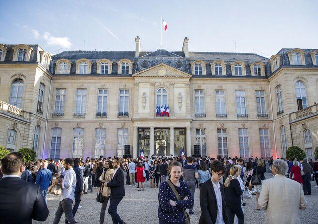 Le palais de l'Élysée, le 21 juin 2018