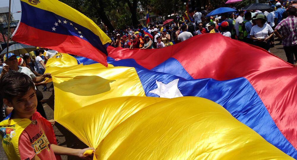Drapeau vénézuélien, Caracas
