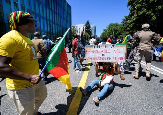 Manifestation des camerounais à Genève