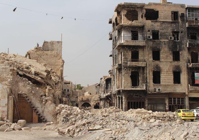 Destructions à Alep, Syrie
