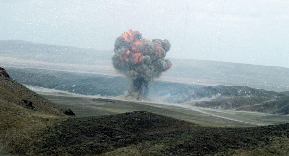 Destruction d'un missile dans le cadre du Traité FNI (archive photo)