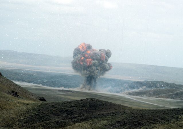 Destruction d'un missile dans le cadre du Traité FNI (archive photo)
