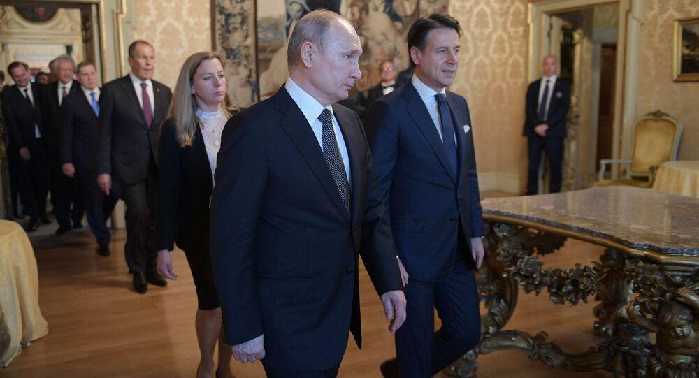 Vladimir Putin et Giuseppe Conte