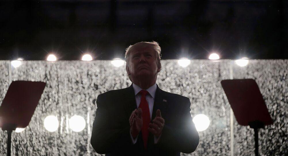 Donald Trump lors des célébrations du Jour de l'indépendance