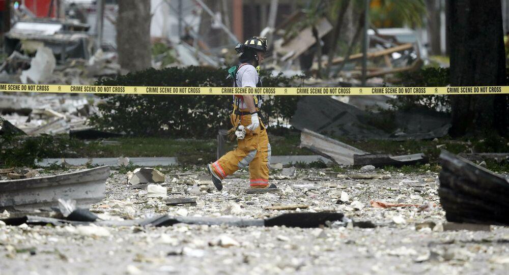 une forte explosion de gaz dans un centre commercial de Floride
