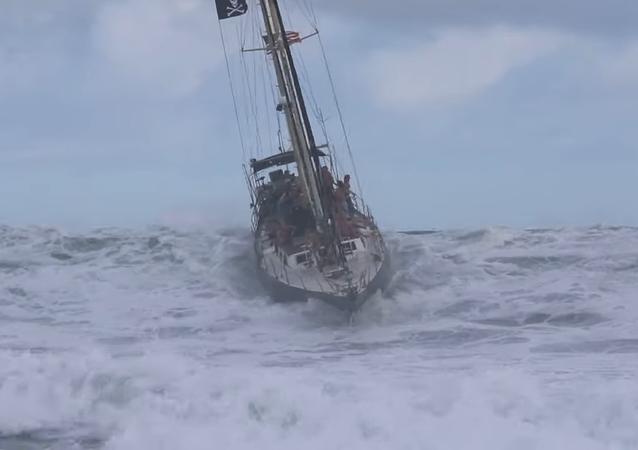 À Hawaii, même les bateaux peuvent surfer