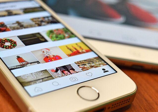 Instagram sur Iphone, image d'illustration