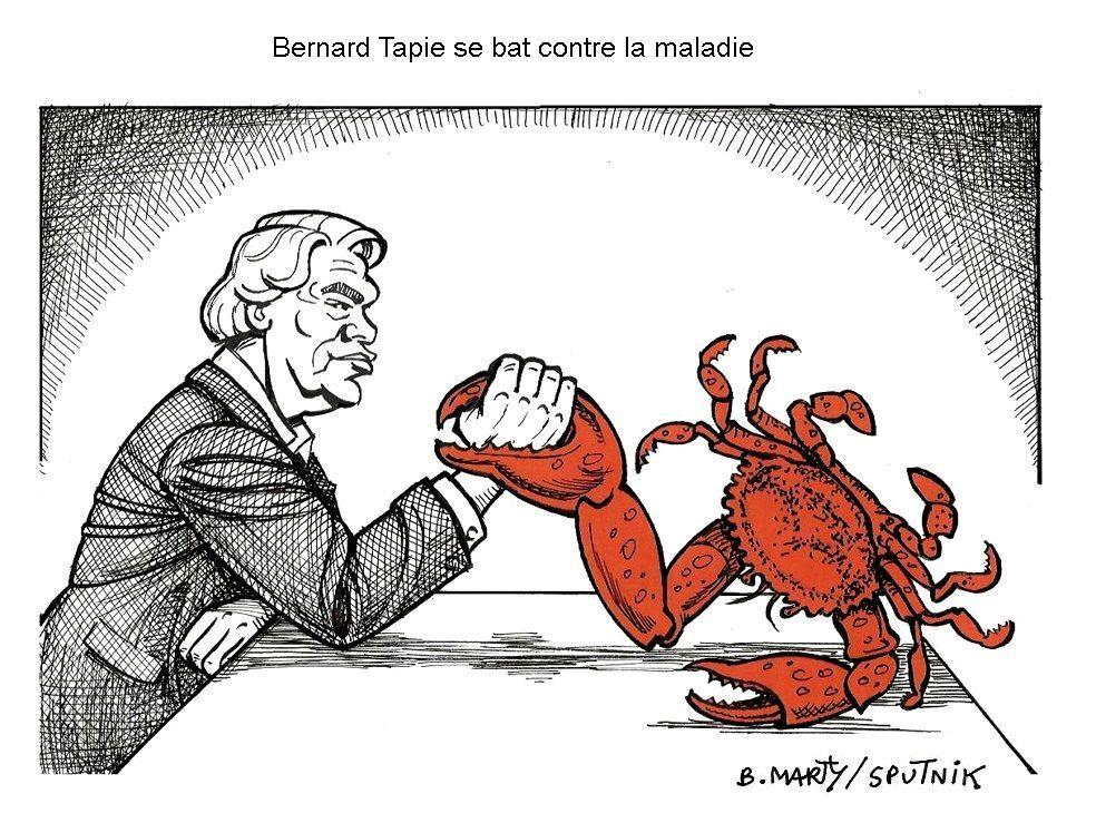 Bernard Tapie se bat contre la maladie
