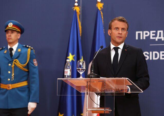 Emmanuel Macron en Serbie