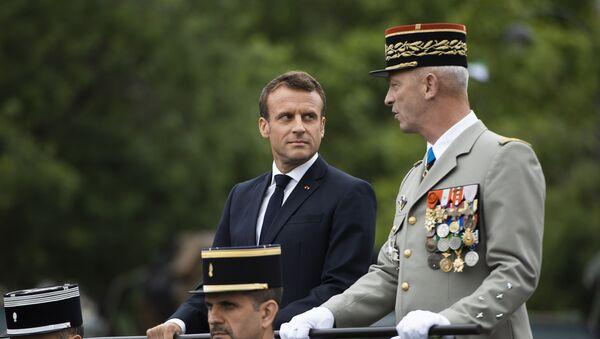 Macron au défilé militaire du14 juillet - Sputnik France