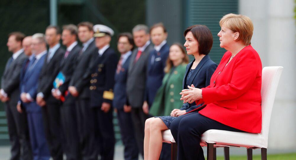 Angela Merkel et Maia Sandu