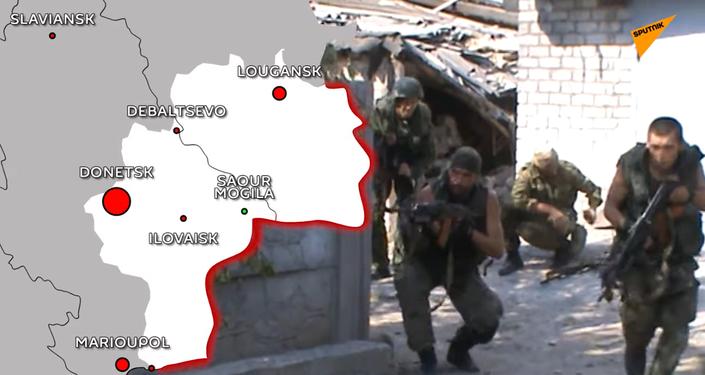 Carte Donbass en guerre