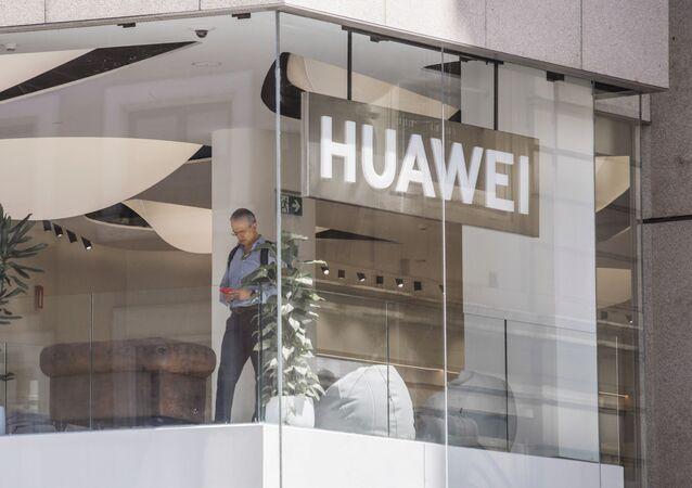 Une boutique de Huawei à Madrid (archive photo)