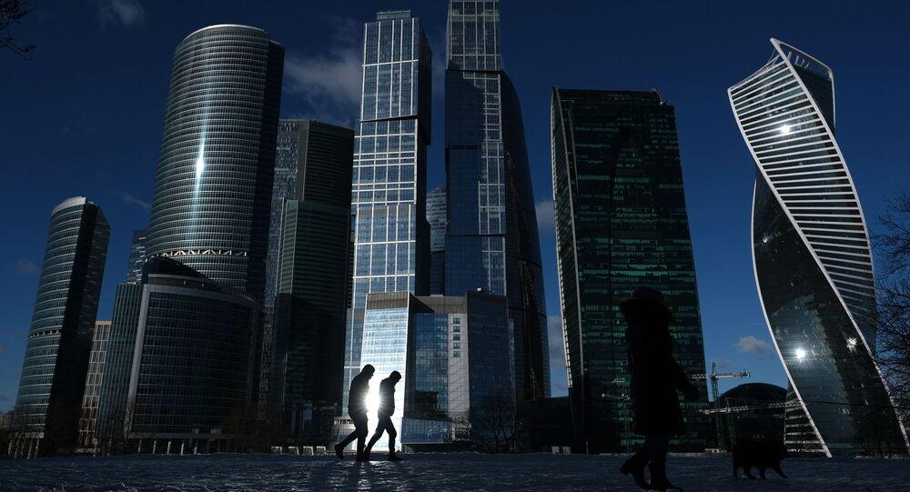 Des gratte-ciels du quartier de Moscou City