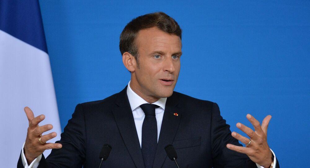 Президент Франции Эммануэль Макрон на саммите ЕС в Брюсселе.