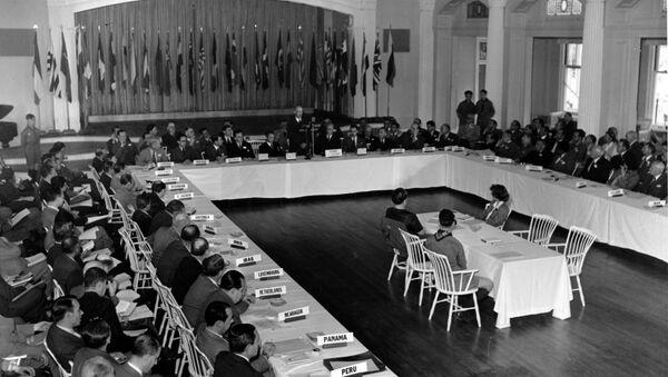 Conférence monétaire et financière des Nations unies dans la ville américaine de Bretton Wood, 4 juillet 1944 - Sputnik France
