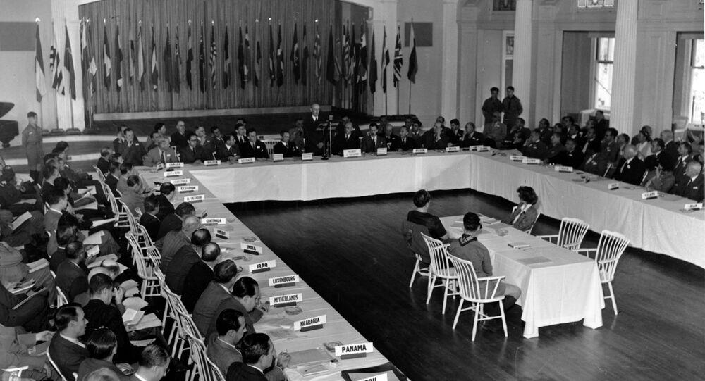 Conférence monétaire et financière des Nations unies dans la ville américaine de Bretton Wood, 4 juillet 1944