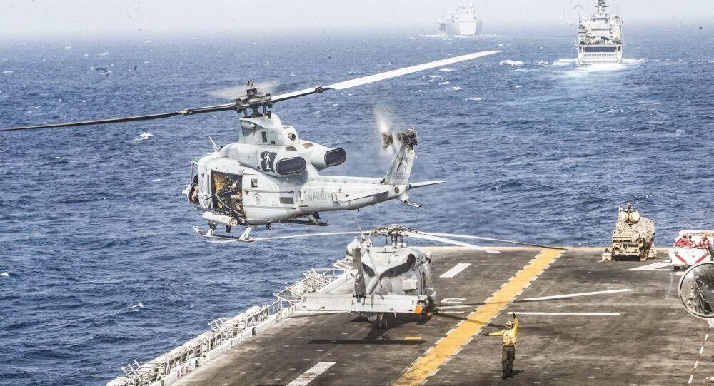 Navires américains dans le détroit d'Ormuz le 18 juillet 2019 (image d'illustration)