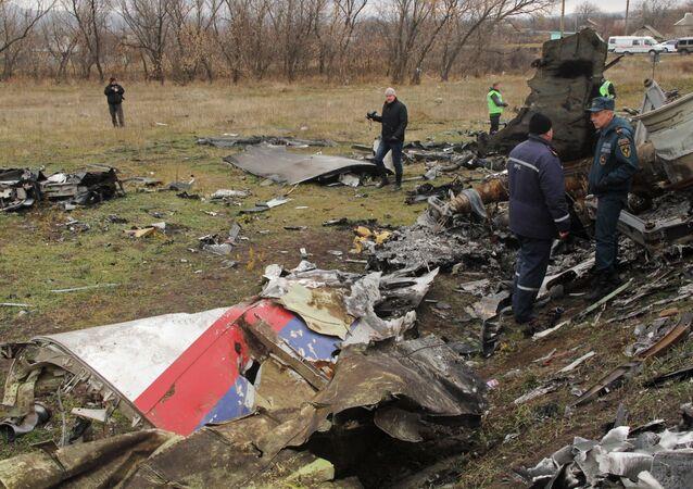 Lieu du crash du vol MH17 abattu en Ukraine