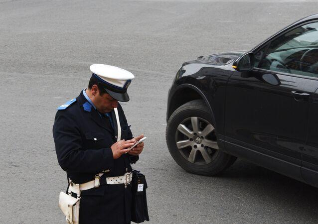 Un policier marocain à Rabat