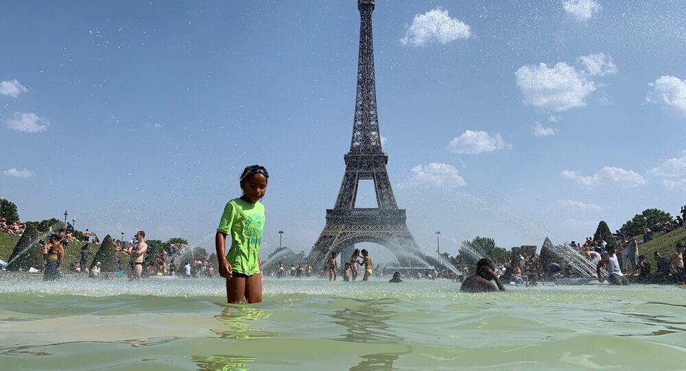 Canicule à Paris, juillet 2019