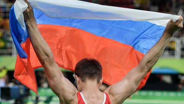 Un gymnaste russe lors des Jeux olympiques 2016 de Rio de Janeiro (archive photo) - Sputnik France