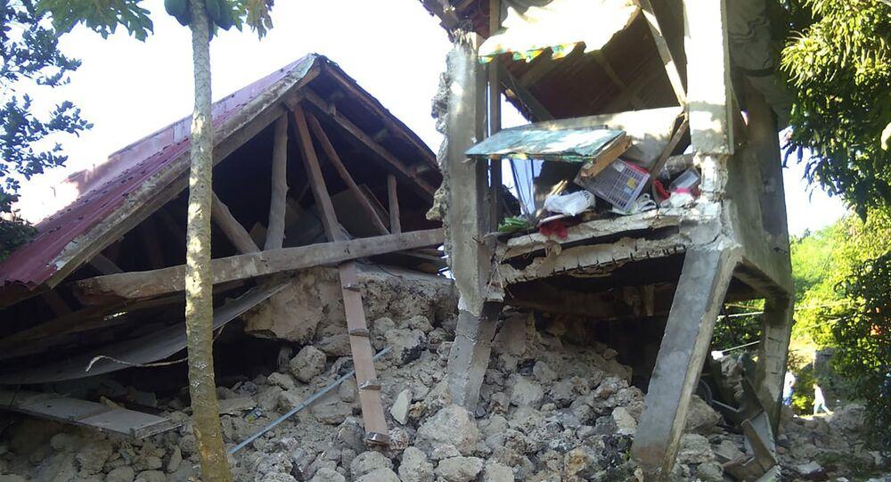 Les conséquences d'une série de séismes aux Philippines
