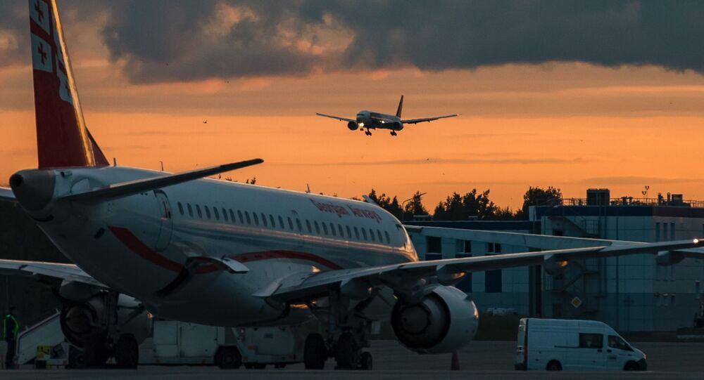 Atterrissage d'un avion
