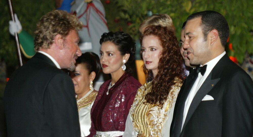 Le roi du Maroc Mohammed VI et la princesse Lalla Salma