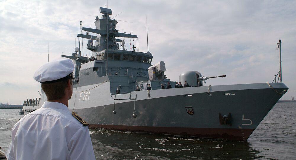 Corvette Magdeburg de la marine allemande (Image d'illustration)