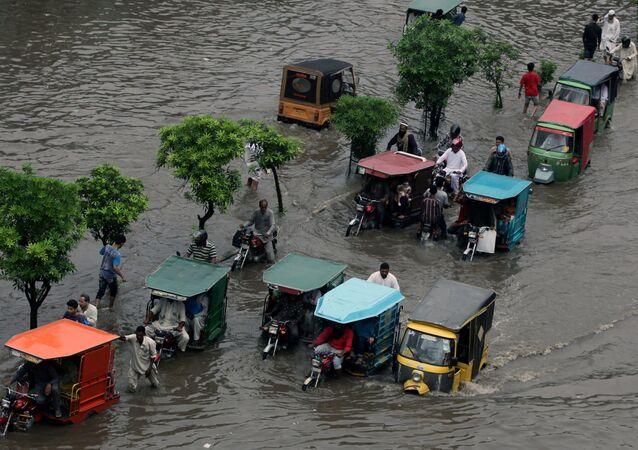 Les consèquense d'une inondation au Pakistan