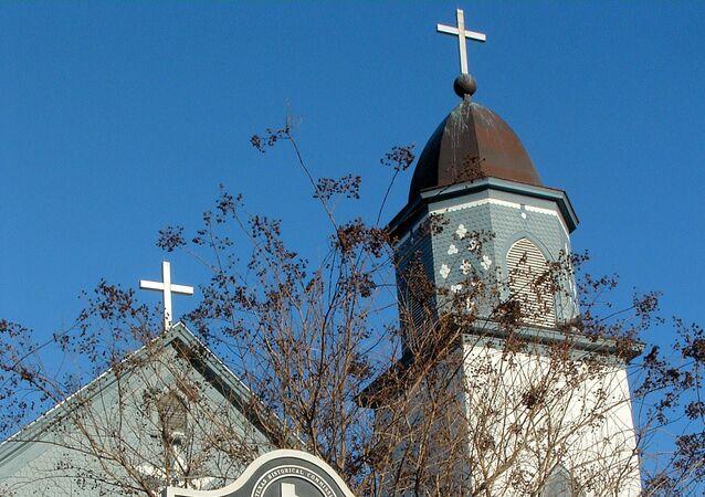 L'église catholique romaine de la Visitation de la Vierge Marie, située dans la commune de Westphalia,