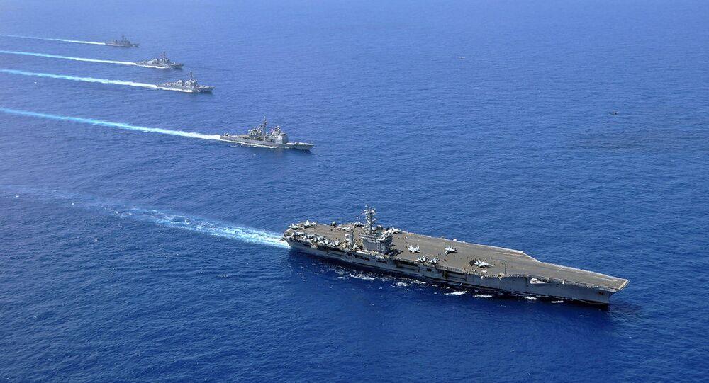 Des navires miliaires US en mer de Chine méridionale (photo d'archives)