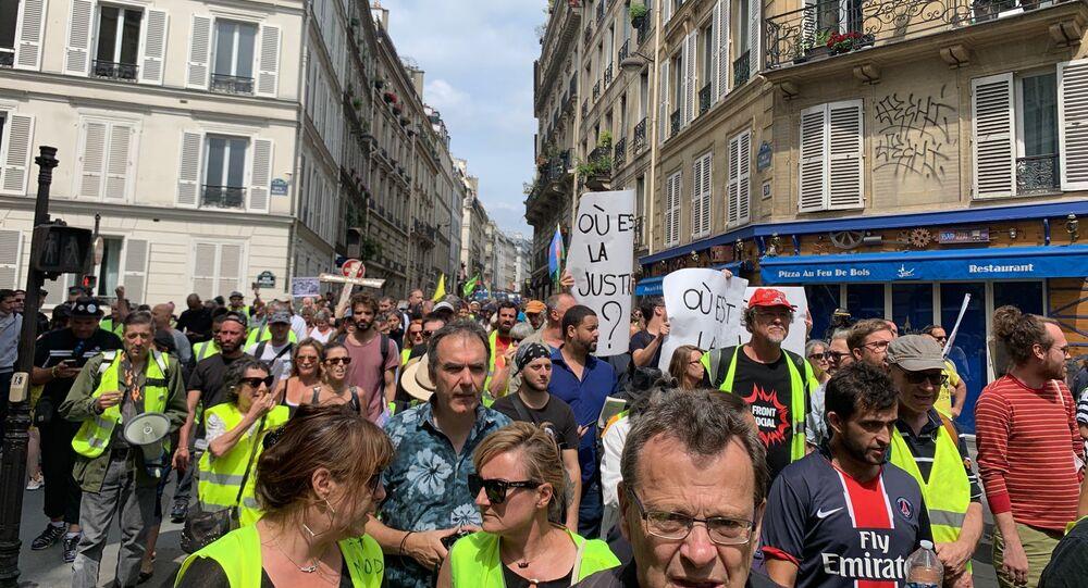 Les Gilets jaunes à Paris (archives)