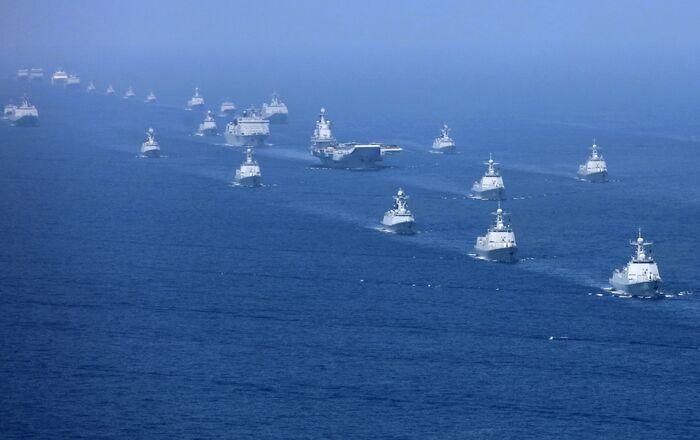 Exercices militaires de la marine chinoise en 2018. (Xinhua News Agency)