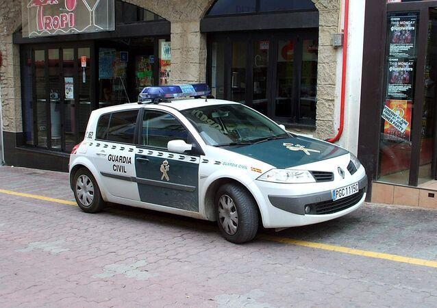 Une voiture de la garde civile espagnole