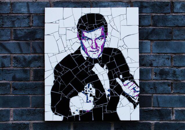 James Bond sur un mur de Manchester