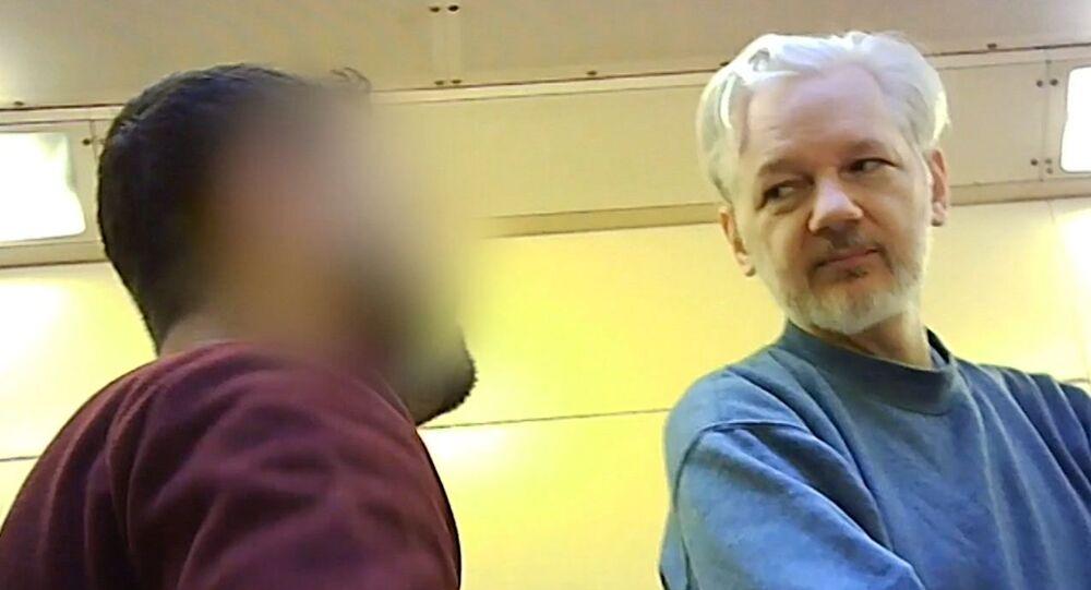 Julian Assange dans la prison de Belmarsh à Londres (archive photo)