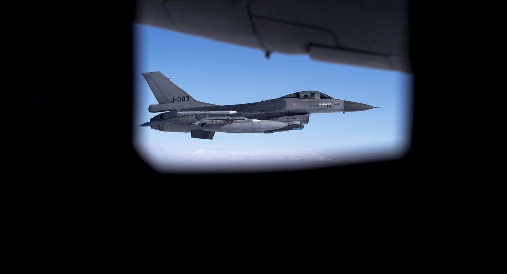 Un F-16 de l'Armée de l'air royale néerlandaise