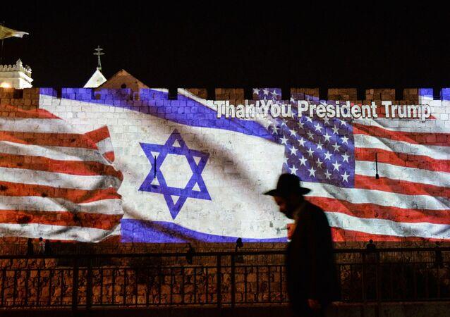 Drapeaux israélien et américains (image d'illustration)