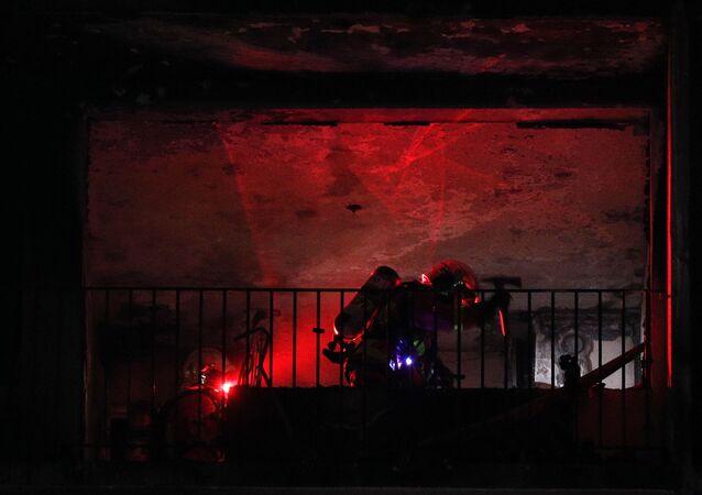 l'incendie d'un immeuble près de l'hôpital Mondor à Créteil