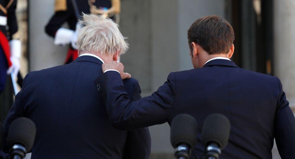 Boris Johnson et Emmanuel Macron