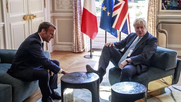 Boris Johnson et Emmanuel Macron - Sputnik France