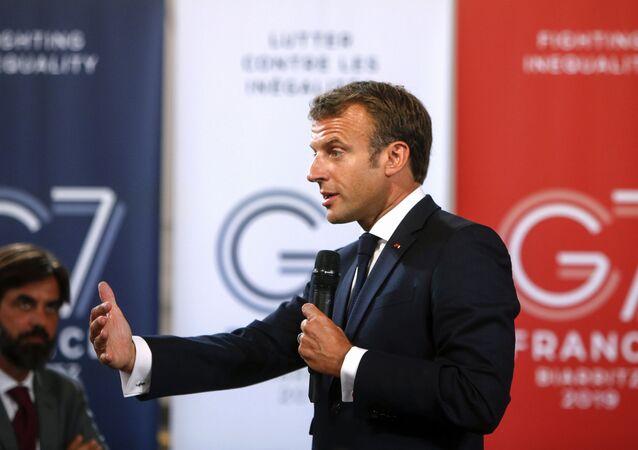Emmanuel Macron à Biarritz