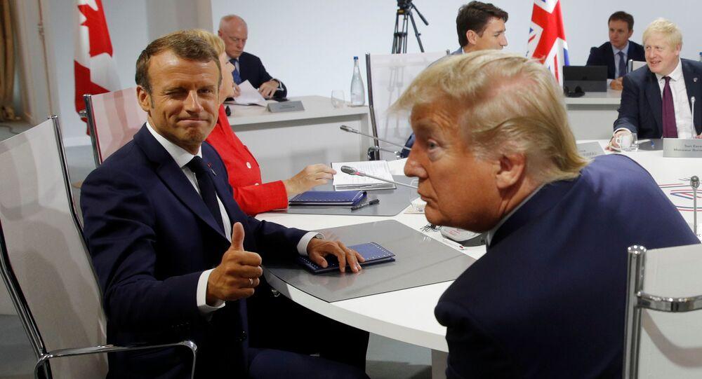 Emmanuel Macron et Donald Trump lors du sommet G7 à Biarritz