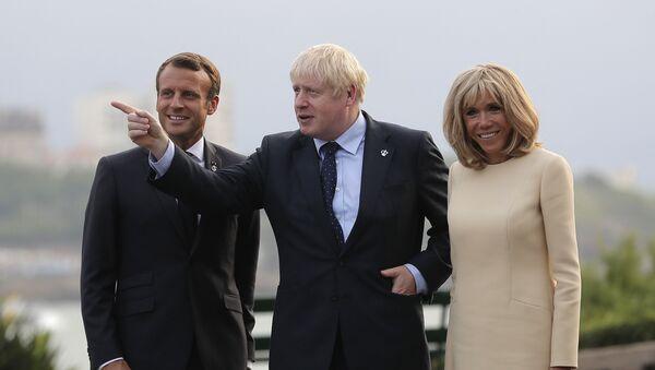Emmanuel Macron et Boris Johnson - Sputnik France