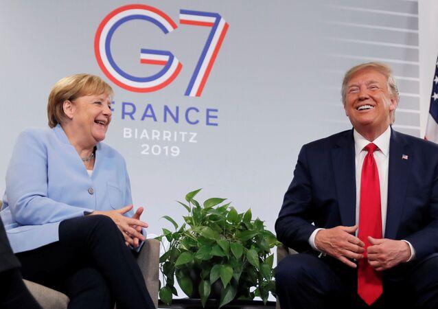 Angela Merkel et Donald Trump au sommet du G7 à Biarritz