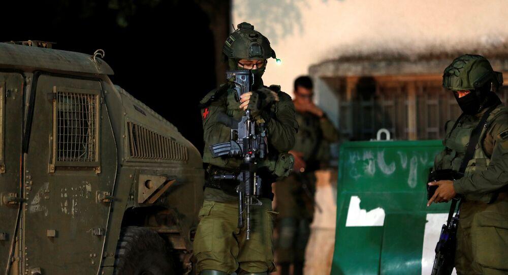 Des militaires israéliens près de la frontière avec le Liban,  le 1er septembre 2019.