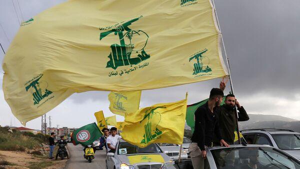 Des partisans du mouvement chiite libanais Hezbollah  - Sputnik France