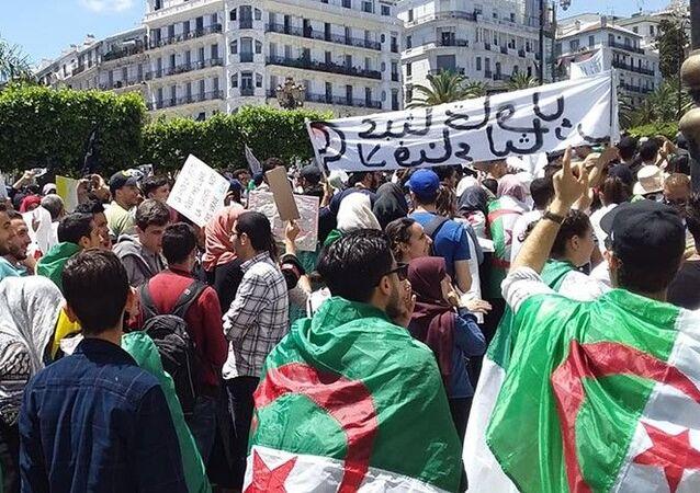 Manifestation antipouvoir des étudiants à Alger